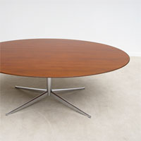 1960s Elliptical conference / dining table from Florenec Knoll