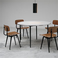 industrial design Friso Kramer round table and chairs 1960s