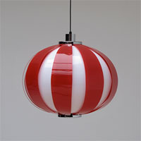60s two tone striped plexi hanging light