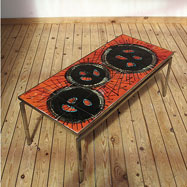 Colorful Belarti ceramic 50's coffee table
