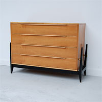 Elegant 50s Belgium Commode with 4 drawers