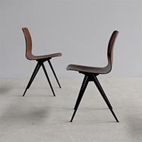 4 industrial timeless design school chairs