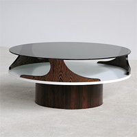 1970 decorative wenge coffee table
