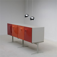 Raymond Loewy DF2000 Double Faced cabinet 1965 France