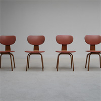 4 chairs designed by Cees Braakman for UMS-Pastoe 1950s