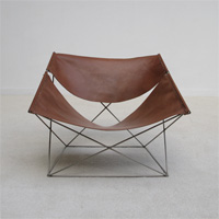 Pierre Paulin for Artifort F675 Butterfly chair Cognac Leather