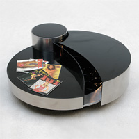 Willy rizzo coffee table with illuminated bar circa70