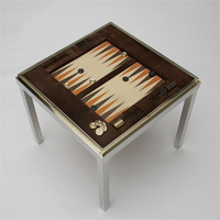 Backgammon reversible Tric trac table from Willy Rizzo