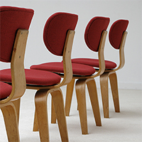 Cees Braakman 4 chairs for UMS-Pastoe 1950s