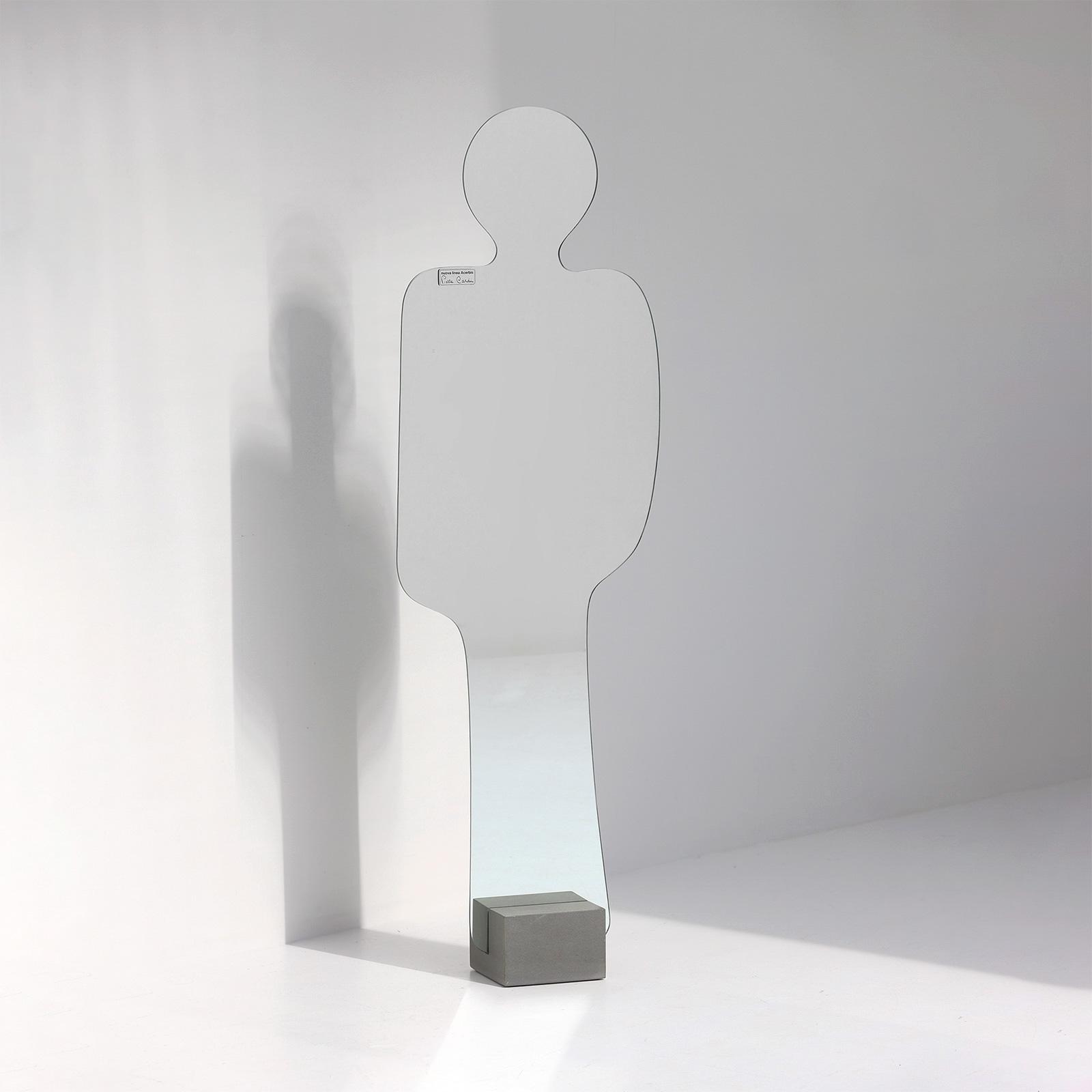 Pierre Cardin Silhouette shaped mirror