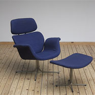 Artifort F545 Tulip chair with ottoman designed by Pierre Paulin