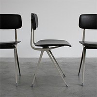 6 Friso Kramer chairs dated 1970 produced by Ahrend de Cirkel