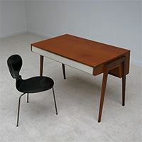 Nice modern 50s writing desk with bookstore front