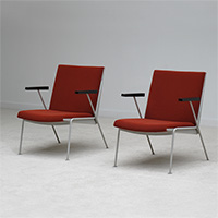 Wim rietveld Pair of Oase chairs 1958 for de Cirkel Ahrend