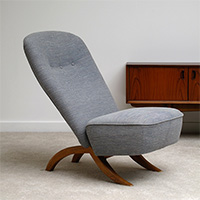 Early Artifort production 50s Congo chair designed by Theo Ruth