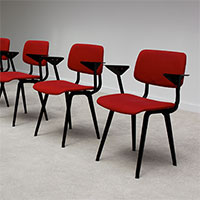 6 industrial Friso Kramer chairs Manufactured by De Cirkel