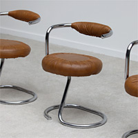 Tubular chrome dining / side chairs 1970s