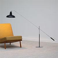 1960s Nicely crafted and adjustable floor lamp
