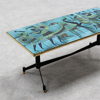 Signed ceramic coffee table 1950s