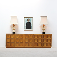 70s high sideboard Sculptural Front structure