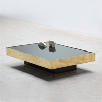 Circa 70s Willy Rizzo style brass coffee table
