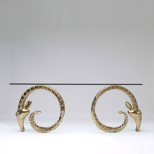 Polished Brass Rams-Head Dining Table