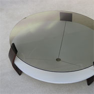 1960's coffee table with smoke glass top