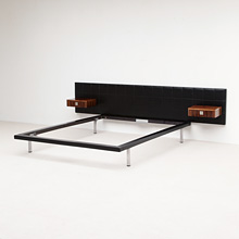 Alfred Hendrickx for Belform rare bed frame 1960's