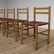 4 chairs attributed Charlotte Perriand 1960s