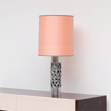1970 CHROME / ALUMINUM LAMP WITH A CYLINDRICAL BASE