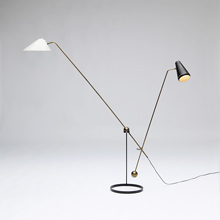 PIERRE GUARICHE Double-Branch floor lamp