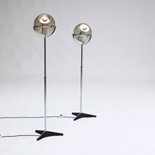 Two Globe '2000' Raak floor lamps
