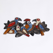 Wall ceramic birds 1970s Perignem