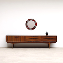 1960S OSWALD VERMAERCKE ULTRA LOW V-FORM 'PAOLA' SIDEBOARD