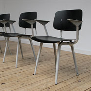 4 Revolt chairs designed for Ahrend by Friso Kramer
