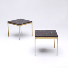 Marble Top Brass Leg side Table 1960s