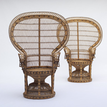 2 Rattan Peacock Chair 1970s