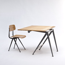 Wim Rietveld 'reply' Drafting Table & chair
