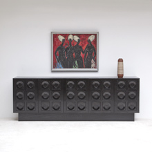 IMPRESSIVE 5-DOOR GRAPHIC FRONTPANEL SIDEBOARD / CREDENZA