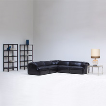 ALBERTO ROSSELLI CONFIDENTIAL corner LEATHER SOFA SYSTEM 1970S