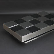 Occasional and rare chess willy rizzo coffee table