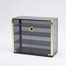 Mario Sabot smoked Glass stereo cabinet