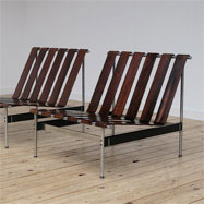 2 rare Kho Liang le chairs model: 416 for Artifort 1960s