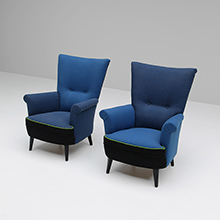 Pair of exquisite '50s armchairs