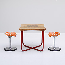 1950s chess gaming table