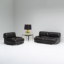 1970s Armchair and two seat by Gerard Guermonprez