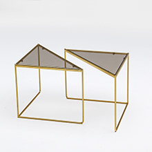 80's Fab Geometric Triangular Form Tables