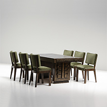 Art Deco brutalist Dining Table