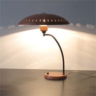 Orange Desk lamp by Louis Kalff for Philips