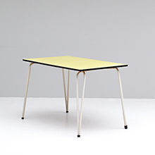 1960s Yellow formica Kitchen table
